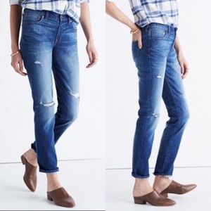 "MADEWELL distressed ""The Slim Boyjean"" jeans"